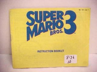 NINTENDO SUPER MARIO BROS. 3 INSTRUCTIONS NIB8037