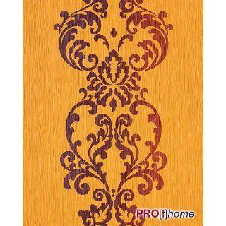 EDEM 178 21 Tapete Modern Art Barock Ornamente gelb orange braun