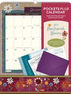 Patchwork Blooms Pockets Plus   2013 Wall Calendar Calendars