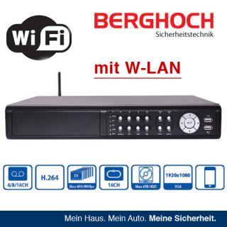 Aufzeichnungsgerät H.264 DVR 16 Kanal Videoüberwachung