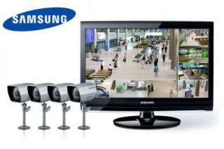 SAMSUNG Set 8 Kanal H.264 DVR im 22 Monitor 4 Kameras