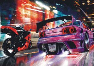Fast 2 Furious Autorennen Auto Tuning Foto 360 cm x 270 cm
