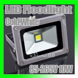 New Cold White Flood Light Wash Lamp 85 265V 10W LED Floodlight