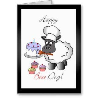 Baker birthday greeting card