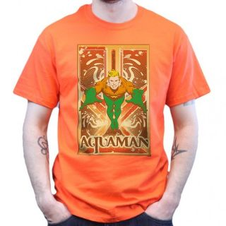 Big Bang Theory   Aquaman   T Shirt   Orange