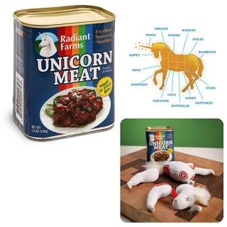Canned Meat Unicorn Plush Totally Bizarre Think Geek Gift Fantasy