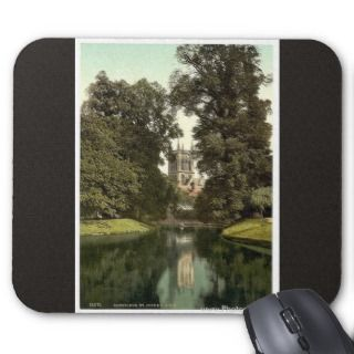 St. Johns College, chapel the river, Cambrid Mouse Pads