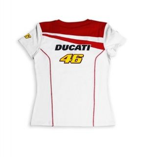 DUCATI Corse Damen T Shirt Top VALENTINO ROSSI D46 Team Moto GP LADY