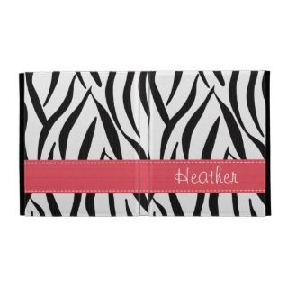 Pink Zebra Print iPad Folio Case Cover