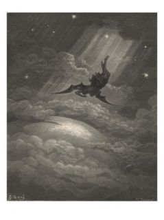 Now to the Ascent of That Steep Savage Hill Satan Hath Journeyd On Giclee Print by Gustave Dore