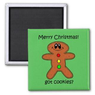 Funny gingerbread man Christmas Refrigerator Magnet