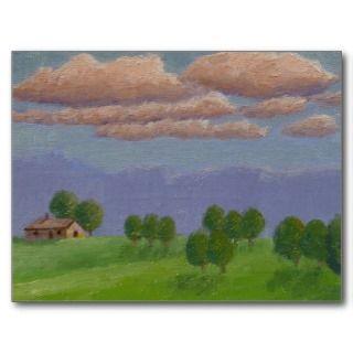 Illinois Farm View Acrylic Landscape Painting Postcards