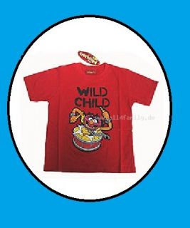 Muppets~Animal~WILD CHILD~ cooles T Shirt 92   116 rot