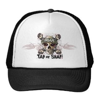 Tap or Snap MMA Skull Gear Mesh Hats