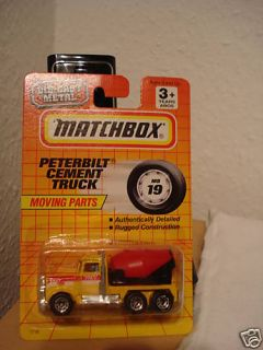 PETERBILT CEMENT TRUCK MATCHBOX SUPERFAST MINT BOXED / TOP IN USA OVP