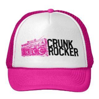 Lil Jon Crunk Rocker Boombox Pink Trucker Hats