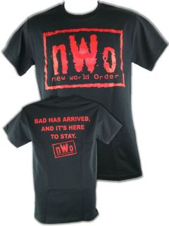 nWo Bad Has Arrived New World Order Red Logo T shirt
