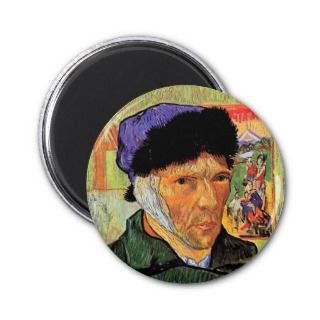 Van Gogh Self Portrait With Bandaged Ear Magnet