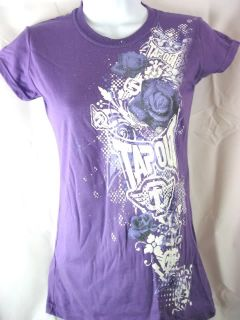 TAPOUT Breakdown Womens T shirt Purple New