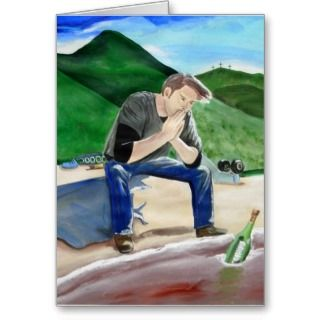 Prayer Praying Man Sawyers Prayer Greeting Card
