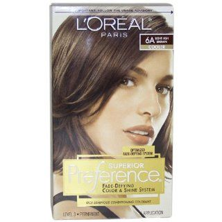 LOreal Preference Haircolor, Light Ash Brown 6A 1 ea (Haarfarbe