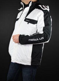Nebulus Herren Skijacke Winterjacke Weiß / Schwarz Gr. L