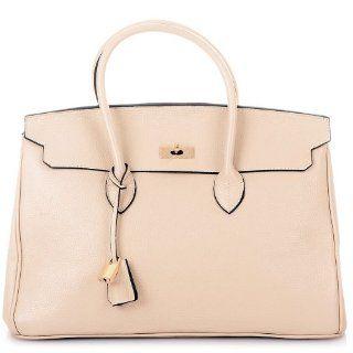 ROUVEN Elfenbein Beige & Gold GRACE 40 Bag Handtasche