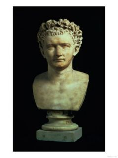 Portrait Bust of Emperor Nero, after 75 AD Giclee Print