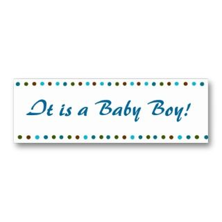 Minicard Baby Boy Birth Announcement Business Card Templates