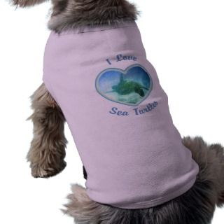 Love Sea Turtles Dog T Shirts