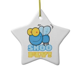 silly cute cartoon character SHOO FLY Christmas Ornament