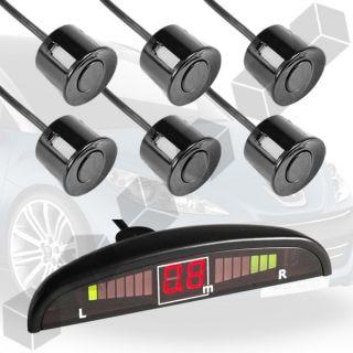 Einparkhilfe Rueckfahrwarner Parkhilfe 6 Sensoren LED Display