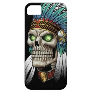 Native American Indian Tribal Goic Skull iPhone 5 Cases