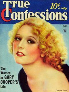 Thelma Todd   True Confessions Magazine Cover 1930s Masterprint