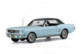 1966 FORD MUSTANG 289 COUPE Arcadian Blue 124 Danbury Mint