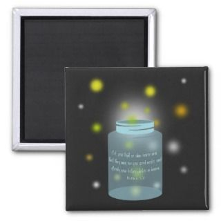Matthew 516 Bible Verse Fireflies Magnet