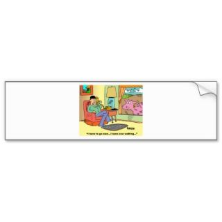 Farm Cartoon Cow Humor Bumper Sticker