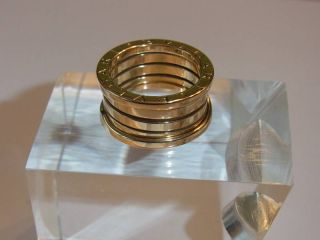 Original Bulgari Bvlgari B.Zero 4 Band Ring 750 Gold Gelbgold incl