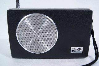 Vintage Graetz Flip 301 portable Radio PERFECT 70s°UKW MW Tuner