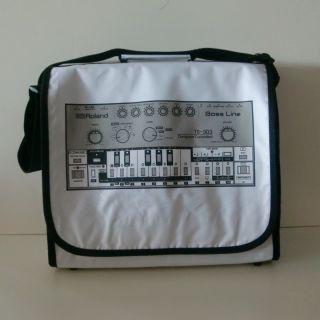 Roland TB 303 Bass Line DJ Bag White (Ltd Edition) NEW + OVP