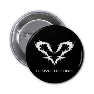 Love Techno Button