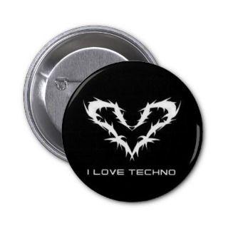 Love Techno Button