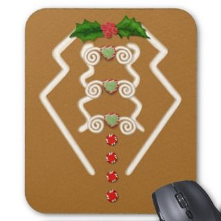 Gingerbread Man Tuxedo Mouse Pads