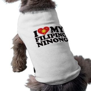 Love My Filipino Ninong Pet Tshirt