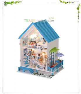Puppenhaus Dollhouse Miniatur Romantic Aegean Sea DIY Spielzeug