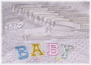 10 Infant, Hospital ID wristbands for Reborn baby doll