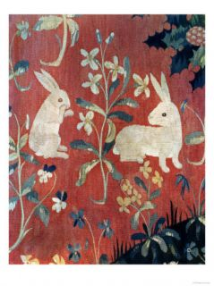 The Lady and the Unicorn Taste, Detail of Two Rabbits Giclee Print