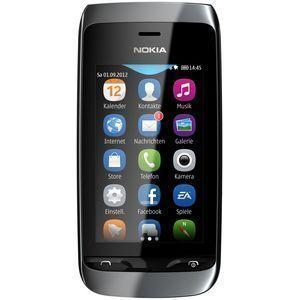 Nokia Asha 309 black Smartphone Touchscreen Handy ohne Vertrag 2 MP