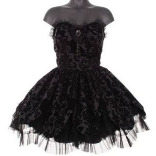 Hell Bunny trägerloses Mini Kleid PETAL DRESS black