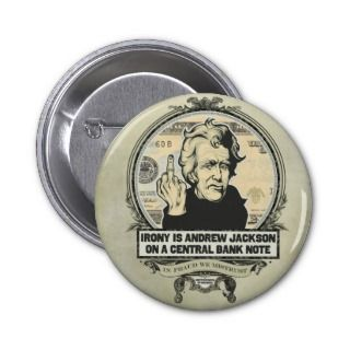 Andrew Jackson Central Bank Button